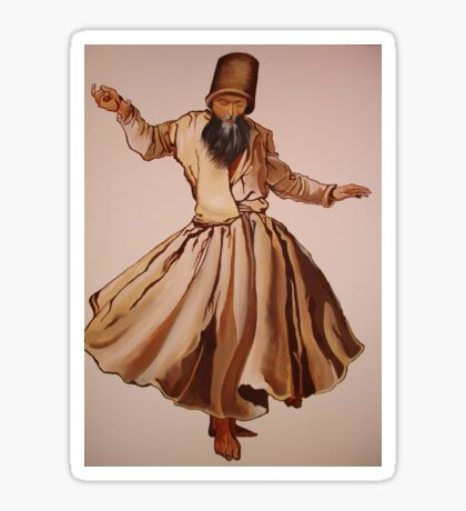 The Remembrance of Allah - A Sufi Whirling Dervish Sticker