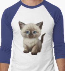 Cataclysm: Siamesische Kätzchen-Tatzen Baseballshirt für Männer