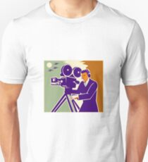 Cameraman Film Crew Vintage Video Movie Camera Unisex T-Shirt