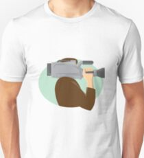 cameraman movie video camera side retro Unisex T-Shirt