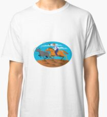 Cowboy Riding Horse Lasso Bull Cow Classic T-Shirt