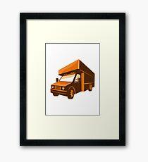 moving truck delivery van retro Framed Print