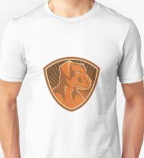 Sheepdog Border Collie Shield Retro Unisex T-Shirt
