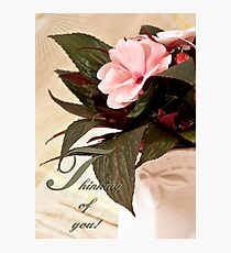 Thinking Of You - Card Impatience Flower Photographic Print
