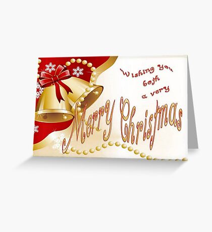 Wishing You Both A Very Merry Christmas Greeting Card
