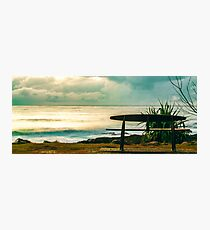 snapper rocks seat 2 Photographic Print