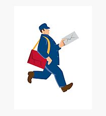 mailman postal worker delivery man Photographic Print