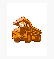 mining truck low angle retro style Photographic Print