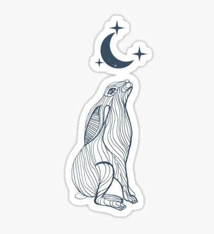 Hare Moon Sticker