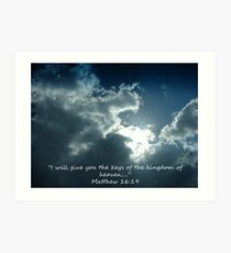 """Matthew 16:19""  by Carter L. Shepard Art Print"