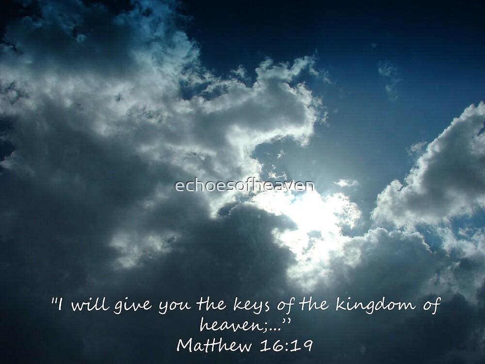 """""""Matthew 16:19""""  by Carter L. Shepard by echoesofheaven"""