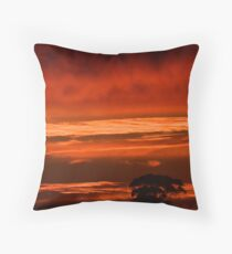Morning Red Throw Pillow