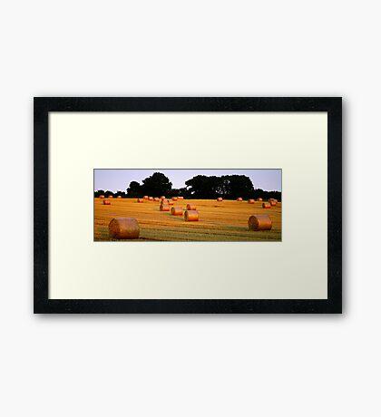 A Harvest Scene Framed Print
