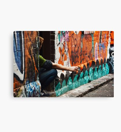 hanging out for a smoke Canvas Print