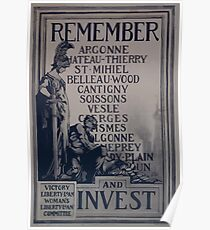 Rememberand invest Victory Liberty Loan Womans Liberty Loan Committee 002 Poster