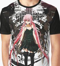 Gasai Yuno Anime Future Desolation Anime T-shirt Graphic T-Shirt