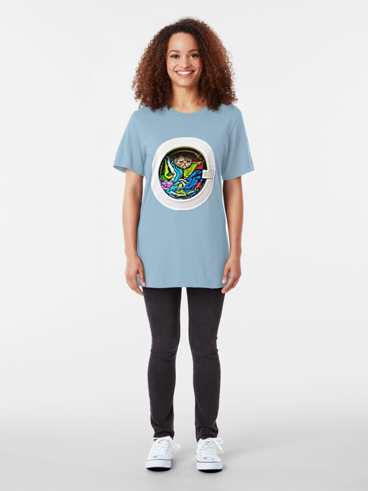 """Alternate view of OMG... I said """"WATCH"""" the Kitten! Slim Fit T-Shirt"""