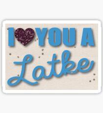 Glitter and Latkes Hanukkah Greeting Card Sticker