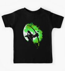 He walks at night... (Green) Kids Tee