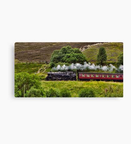 Steaming through the Moors Canvas Print