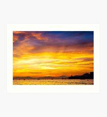 Sunset coast Art Print