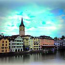 Colours on Limmat by Charmiene Maxwell-Batten