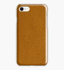 Orange suede iPhone Case/Skin