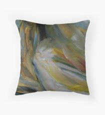 """detail """"Cabin on Shore"""" oil painting MAYNE ISLAND  Throw Pillow"""