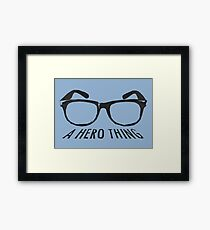 A super hero needs a disguise! Framed Print