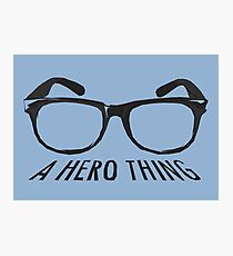 A super hero needs a disguise! Photographic Print