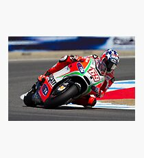 Nicky Hayden at laguna seca 2012 Photographic Print