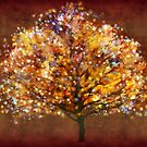 Starry tree  by Valerie Anne Kelly