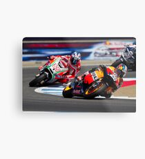 Dani Pedrosa and Nicky Hayden at laguna seca 2012 Metal Print