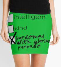 Burdened With Glorious Purpose Mini Skirt