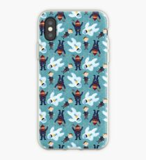 Yukon, Hermey and the Bumble in Teal iPhone Case