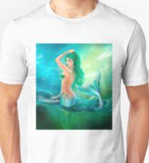 mermaid fantasy at ocean on waves Unisex T-Shirt