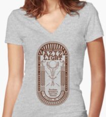 Aziz Light-The Divine Brew Women's Fitted V-Neck T-Shirt