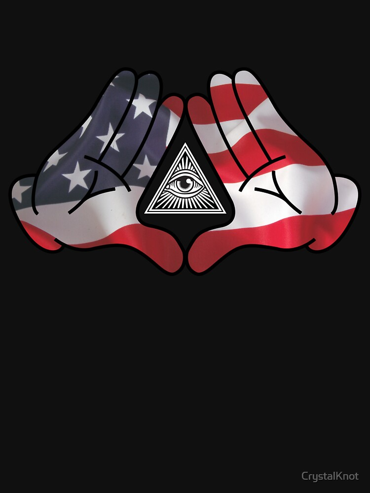 American Illuminati Hands Diamond by CrystalKnot