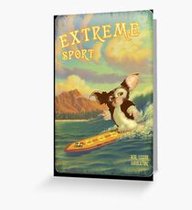 Retro Surf Greeting Card