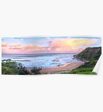 Turimetta Sunset #2 - Turimetta Beach, Sydney Australia - The HDR Experience Poster