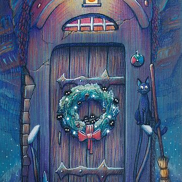 Ghibli Christmas in Howl's Moving Castle by illustore