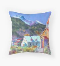 Sunday in Silverton Throw Pillow