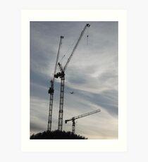 Aircraft/Cranes -(310712)- digital photo Art Print