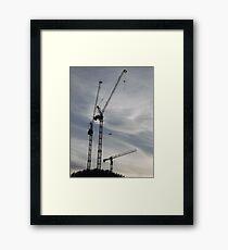 Aircraft/Cranes -(310712)- digital photo Framed Print