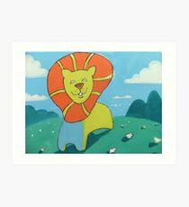 sunshine lion Art Print