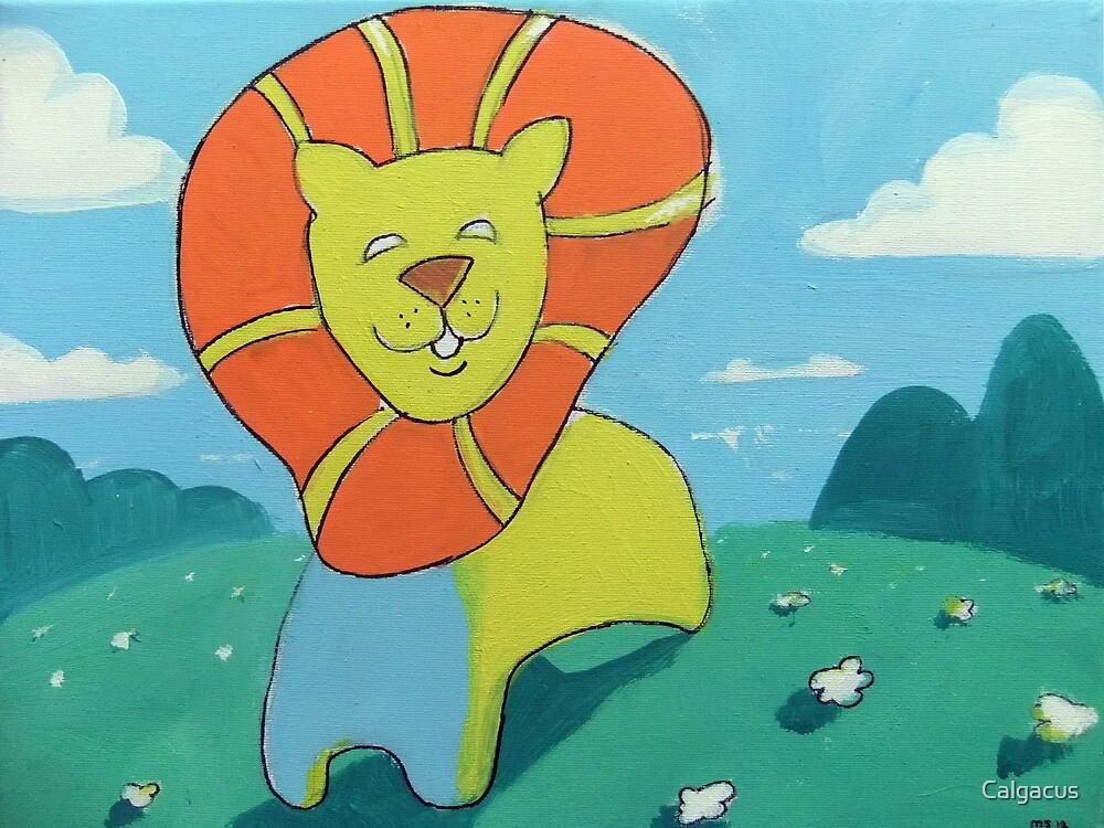 sunshine lion by Calgacus