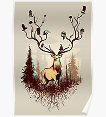 A Rustic Hat Rack Poster