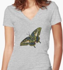Butterfly Art 4 Women's Fitted V-Neck T-Shirt