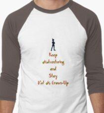 "Peter Pan ""Stay Calm"" Men's Baseball ¾ T-Shirt"