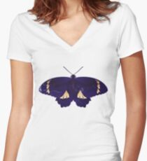 Butterfly Art 8 Women's Fitted V-Neck T-Shirt